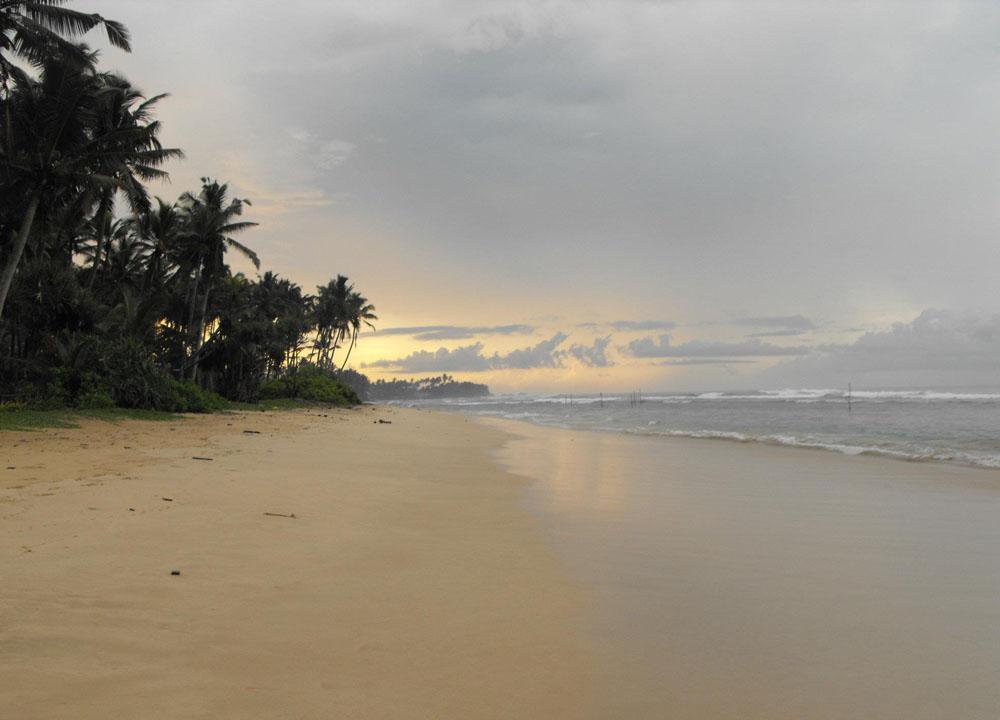 Ahangama Beach, South Sri Lanka Tsunami Warning April 2012, Asia