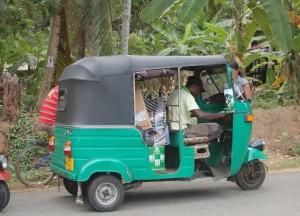 Fleeing Tuk-Tuk, South Sri Lanka Tsunami Warning April 2012, Asia