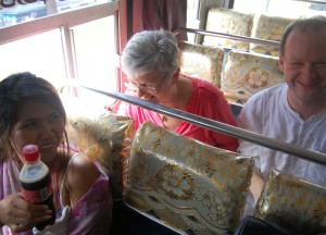 Onboard Sri Lankan Local Bus, South Sri Lanka Tour, Independent Travel