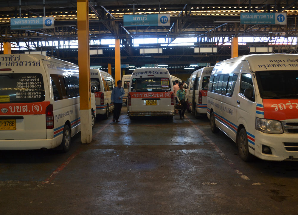 Victory Monument Minivans, Long Distance Travel in Thailand, Bangkok