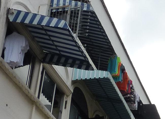 Local Houses on Bangkok Street Food Street, Southeast Asia