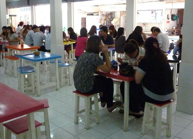 Lunchtime Food Court, Bangkok Street Food Street, Southeast Asia