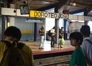 Doroteo Jose LRT Platform in Manila, Philippines, Southeast Asia