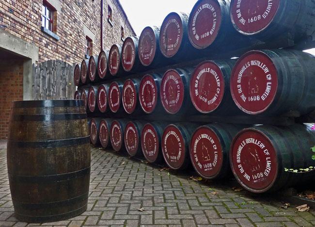 Whiskey Casks at Bushmills Distillery, Co. Antrim, Northern Ireland