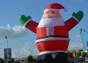 Giant Santa Manila Philippines Christmas in Bangkok and Southeast Asia
