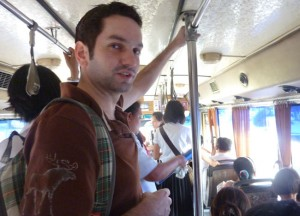 Local Bus Travel, Cost of living in Bangkok on a budget Sukhumvit area
