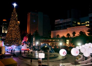 Centralworld at Night, Christmas in Bangkok and Southeast Asia