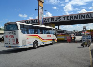 Dao Mabalacat Bus Terminal on Stopover at Clark Airport Southeast Asia