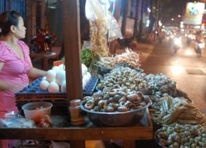 Street Food Snails in Ho Chi Minh City Saigon, Southeast Asia