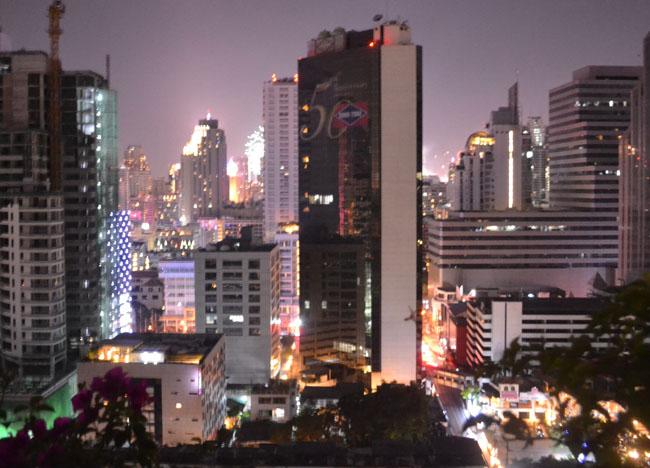 Sukhumvit Firework Views, New Years Day in Bangkok, Southeast Asia
