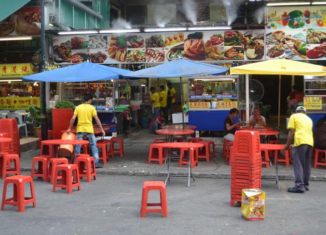 Daytime Opening, Jalan Alor Food Street, Kuala Lumpur, Southeast Asia