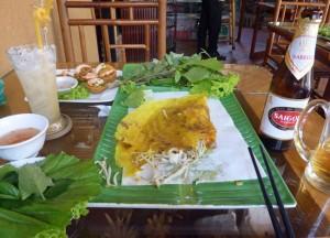 Vietnam Seafood Crepe, Banh Xeo An La Ghien, Vietnamese Food, HCMC