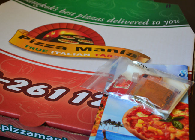 Pizza Box, Pizzamania, Best Pizza Delivery in Bangkok, Southeast Asia