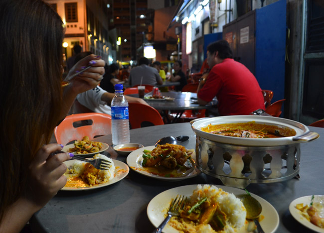 Fish Head Curry Bugis Singapore to Bangkok Overland, Island Hopping