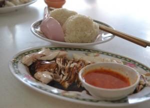 Red Chilli Dip, Hainanese Chicken Rice Singapore vs Khao Man Gai Thailand