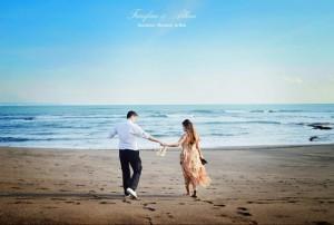 Volcanic Beach, Pre-wedding Photo Shoot in Bali Photography Locations