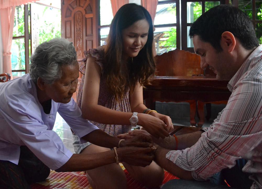 Family Blessing, String Bracelets Thailand, Sai Sin Sacred Thread Asia