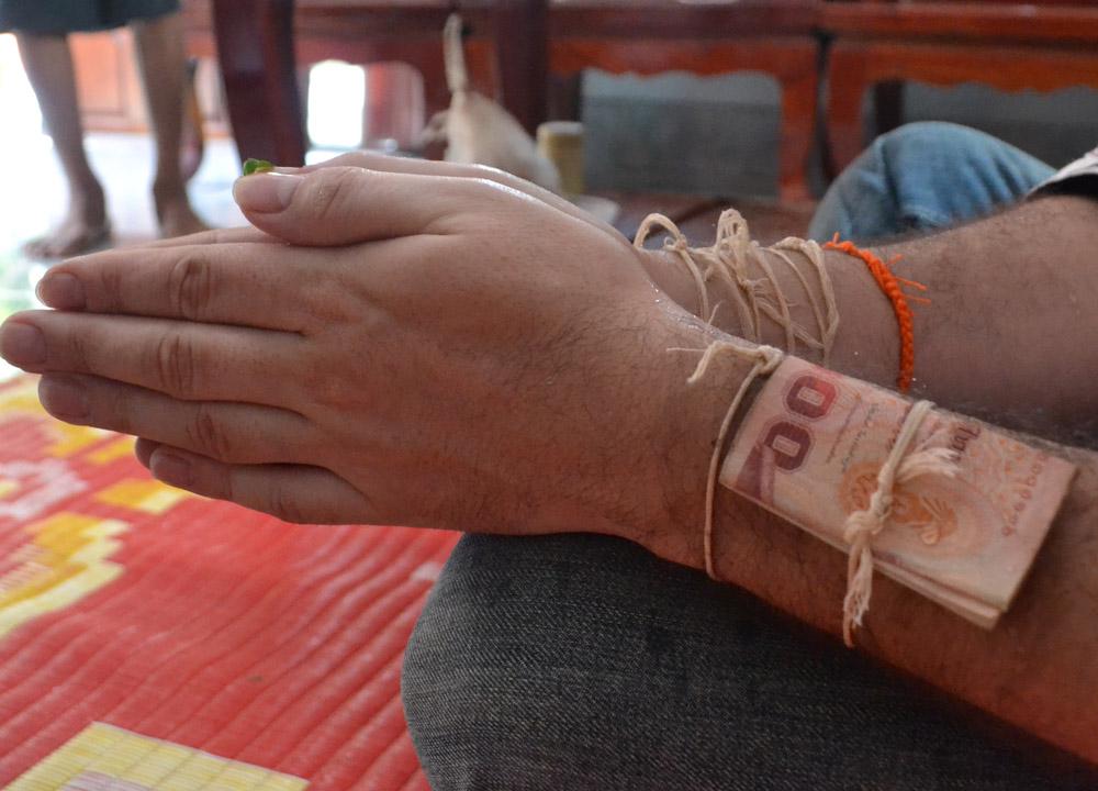 Money Baht Notes, String Bracelets Thailand, Sai Sin Sacred Thread