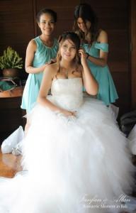 Bridesmaids Styling Brides Hair, Wedding in Bali Ubud, Travel Bloggers