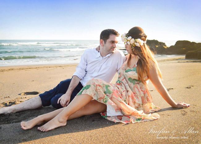 Black Sand Beach Pre-wedding Photo Shoot in Bali Photography Locations