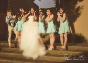 The Bridesmaids, Simple Wedding in Bali Ubud, Travel Bloggers Wedding