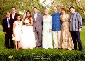 Family Photo, Simple Wedding in Bali Ubud, Travel Bloggers Wedding