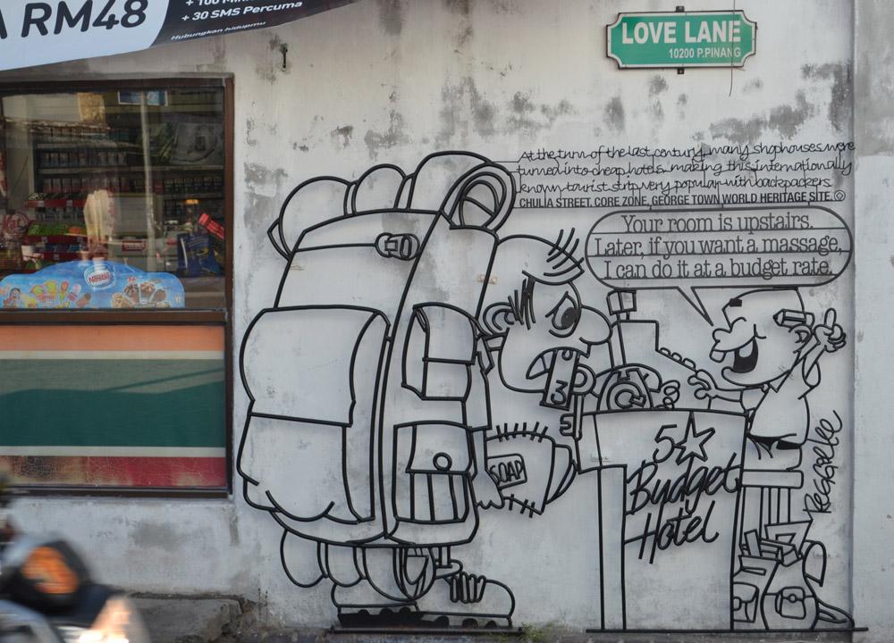 Love Lane Area,Georgetown, Best Thai VISA Run to Penang Malaysia