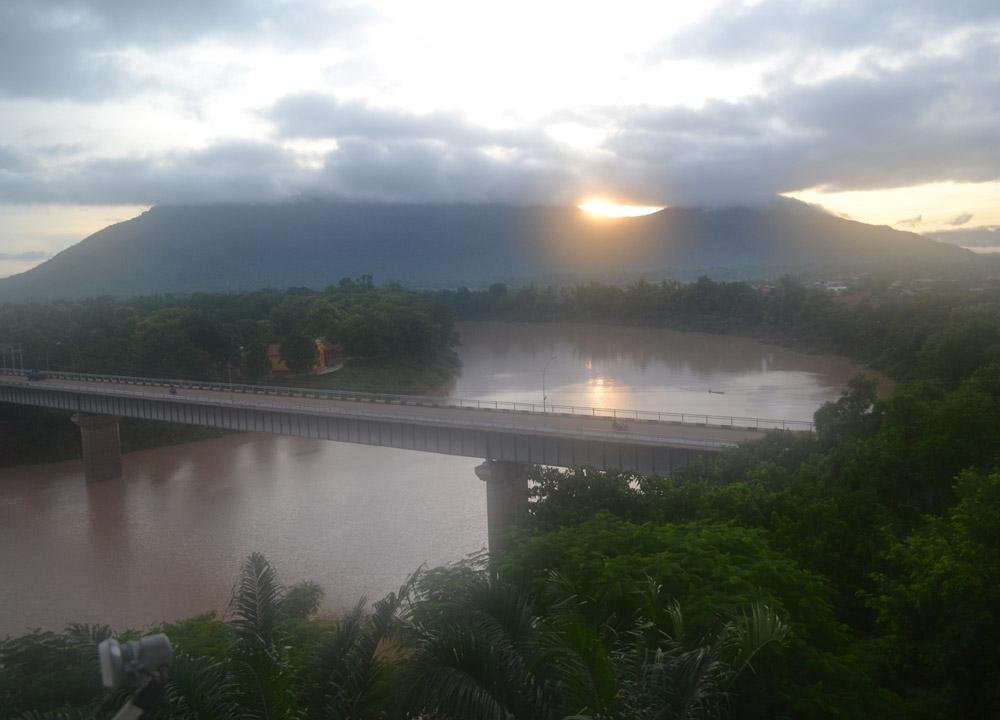 Morning Mekong Views, Champasak Palace Hotel Pakse Hotel Review Laos