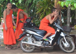 Bursting Spots at Wat Luang, Things to do in Pakse City Southern Laos