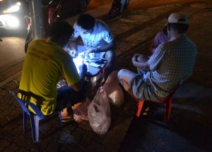 Selling Lottery Tickets, Things to do in Pakse City Southern Laos Asia