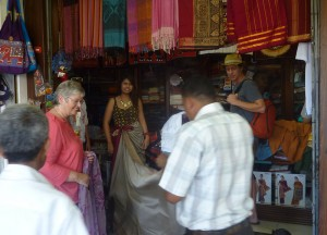 Batik Shops Kandy Market, South Sri Lanka Tour, Independent Travel Asia