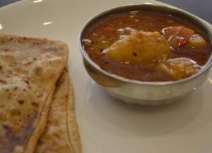 Paratha Aloo Bhaji, Himalayan Food, Eating in the Himalayas, Sikkim
