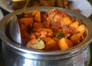 Spiced Curry Aloo, Himalayan Food, Eating in the Himalayas, Sikkim