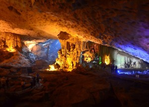 Inside Surprising Cave, Best Halong Bay Overnight Cruise Tours from Hanoi