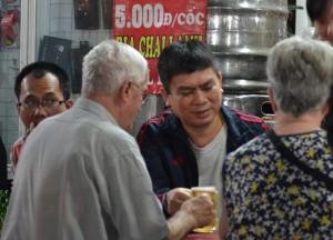 Tourists Drinking Beer, Hanoi Night Market, Hang Dao, Weekend Nightlife