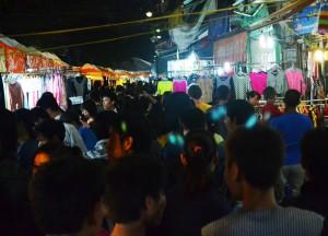 Crowded Stalls, Hanoi Night Market, Hang Dao, Weekend Nightlife
