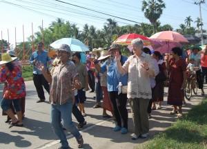 Mum Dancing at Monk Ordination, Isaan Tours and Phanom Rung Thailand