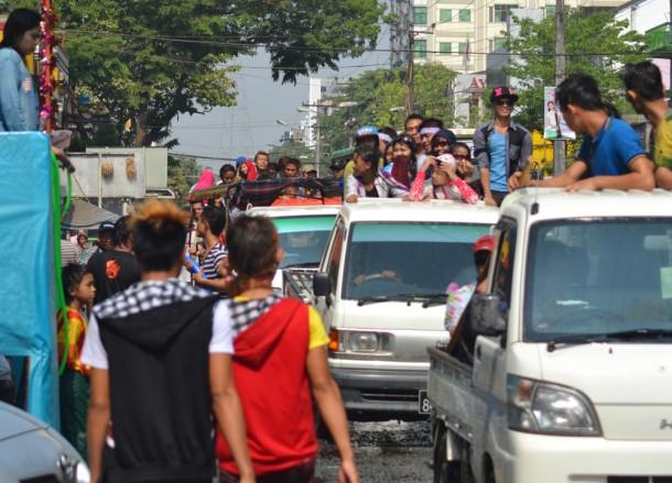 Thingyan Water Festival, Moving Backwards to Move Forward