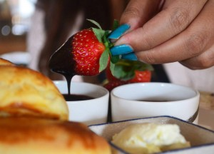 Strawberry in Chocolate Dip, Cameron Highlands Resort, Malaysia
