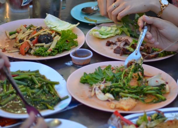Stir Fries and Salads, Best Sukhumvit 38 Street Food, Bangkok