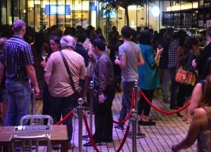 Crowded Bar at Rainhill, Wine Connection in Sukhumvit, Bangkok, Thailand