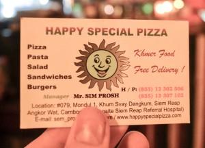 Happy Special Pizza Card, Marijuana Happy Pizzas in Siem Reap