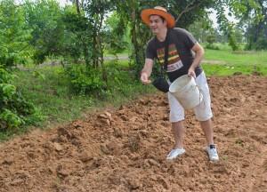Farang Seeding Rice Fields, Isaan Tours and Phanom Rung Thailand