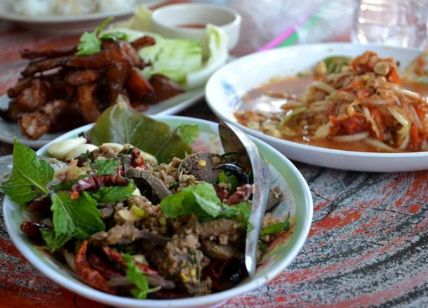 Eating Local Isaan Food, Isaan Tours and Phanom Rung Thailand