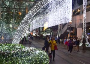 Christmas Lights, Intercontinental Bangkok Hotel Review, Chit Lom