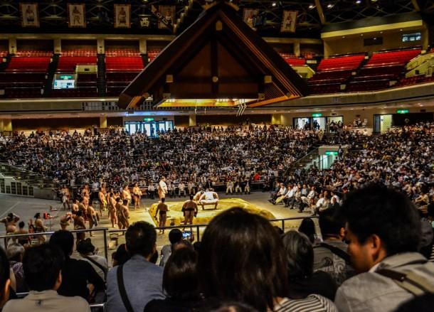 Ryōgoku Kokugikan, Watching Sumo Wrestling in Tokyo Ryogoku Sumo Hall Stadium Japan