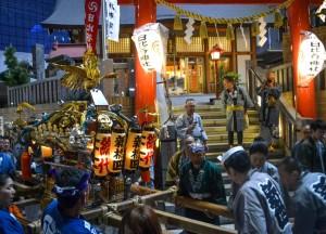 Carrying Shrine, Shimbashi Station Area Tokyo JR Pass Japan