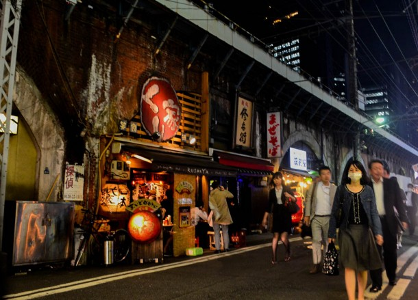 Restaurants, Shimbashi Station Area Tokyo JR Pass Japan