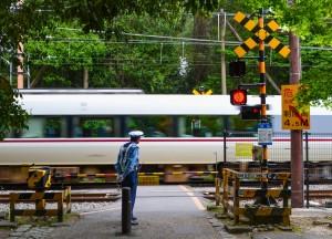 Train Crossing, Essentials for Japan Rail Travel, JR Pass. Pocket Wifi. Hyperdia