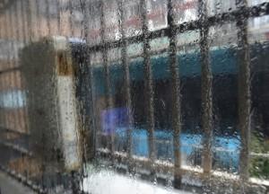 Bars on Windows, Tourist in a Typhoon in Taipei, Taiwan